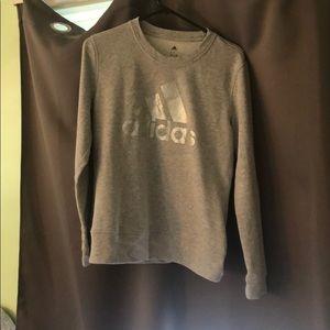 Adidas Crewneck Sweatshirt L- Gray/Silver Sparkle